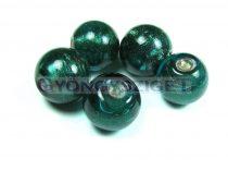 Lámpagyöngy - emerald golyó-cca12mm