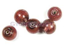 Lampbead - light burgundy round bead-cca12mm