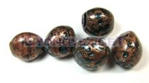 Lampbead - gold sapphire 3 side cut oval - 13x11mm