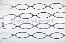 Ékszerlánc - vékony ovalis - platina színű - 25mm
