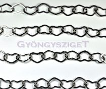 Chain - Heart - Platinum Colour