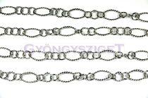 Chain - Oval Cable  Twist - Platinum Colour - 16mm