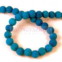 Lavastone - round bead - Aqua - 6mm 66pcs/strand