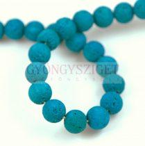 Lavastone - round bead - Aqua - 8mm 48pcs/strand