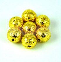 Lávakő - golyó - Arany - 8mm