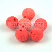 Lávakő - golyó - Coral - 8mm