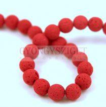 Lavastone - round bead - Crimson - 8mm 48pcs/strand