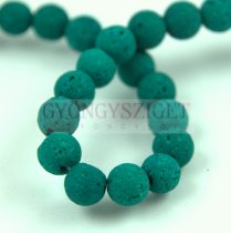 Lávakő - golyó - Emerald - 8mm - kb.48db/szál