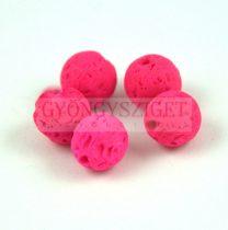 Lávakő - golyó - Neon Pink - 8mm