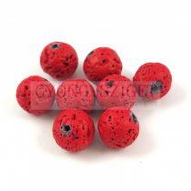 Lávakő - golyó - piros - 10mm