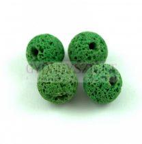 Lávakő - golyó - zöld - 10mm