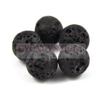 Lávakő gyöngy - 12mm - szálon