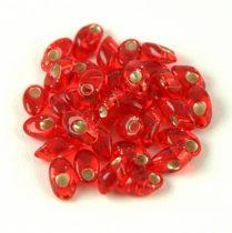 Miyuki long magatama gyöngy  - 10 - Silver Lined Red