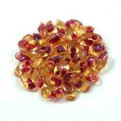 Miyuki long magatama gyöngy  - 363 - Pink Lined Amber