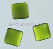 Lunasoft négyzet alakú kaboson - olivin - 17mm