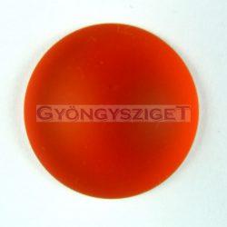 Lunasoft cabochon - orange - 18mm