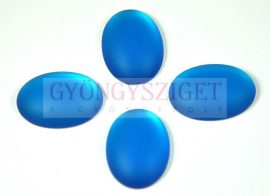 Lunasoft ovális kaboson - capri blue - 13.5x18.5mm