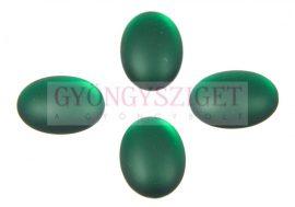 Lunasoft oval cabochon - emerald - 18x25mm
