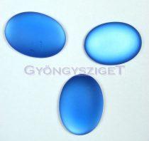 Lunasoft ovális kaboson - sapphire - 13.5x18.5mm