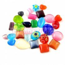 Plastic cateye cabochon - Mixed - 1