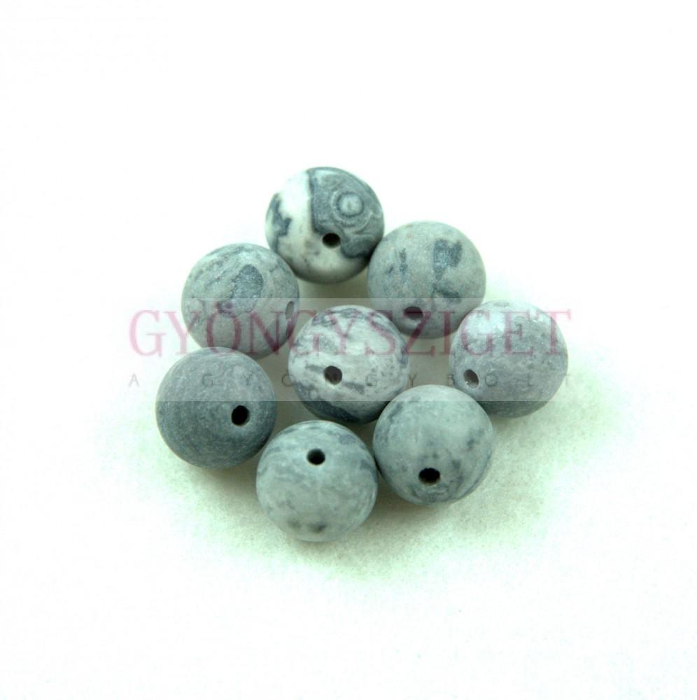 Map Stone golyó gyöngy - matt - 10mm Map Stone f5eede74ca
