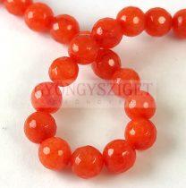 Mashan jáde - csiszolt - színezett - Blood Orange - 8mm - szálon