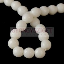 Mashan Jade - round bead - faceted - dyed - White - 8mm - strand