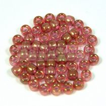 Matubo kásagyöngy - kristály rózsa arany lüszter - 7/0