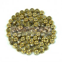 Matubo kásagyöngy - crystal half amber - 8/0