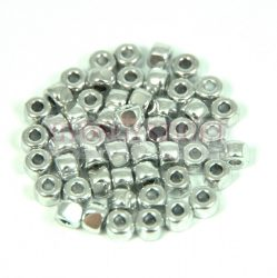 Matubo - 3-cut seedbead - Silver - 6/0