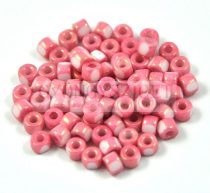 Matubo - 3-cut seedbead - rose marble - 6/0