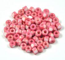 Matubo - 3-cut seedbead - rose marble - 6/0