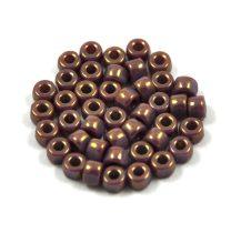 Matubo - 3-cut seedbead - mauve marble - 6/0
