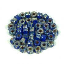 Matubo - 3-cut seedbead - Sapphire Picasso - 6/0