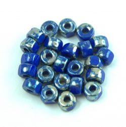 Matubo - 3-cut seedbead - Sapphire Blue Picasso - 2/0