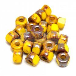 Matubo - 3-cut seedbead - Yellow  Picasso - 2/0