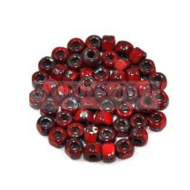 Matubo - 3-cut seedbead - red picasso - 6/0