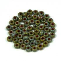 Matubo kásagyöngy - telt oliva picasso - 7/0