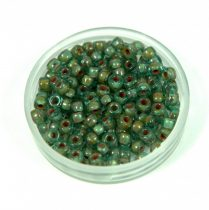 Matubo seedbead - aqua travertine - 8/0