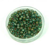 Matubo seedbead - aqua travertine - 8/0