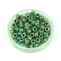 Matubo seedbead - turquoise green picasso - 7/0