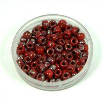 Matubo seedbead - dark red picasso - 7/0