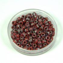 Matubo seedbead - dark red picasso - 8/0
