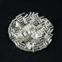 Miyuki szalmagyöngy - 1 - Silver Lined Crystal - 3mm