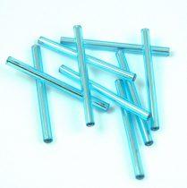 Miyuki szalma gyöngy - Silver Lined Aqua - 30mm