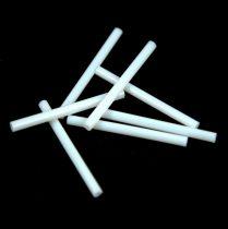 Miyuki szalma gyöngy - Opaque White - 30mm