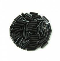 Miyuki szalmagyöngy - 401 - Opaque Black - 6mm