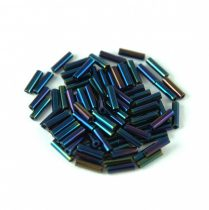 Miyuki szalmagyöngy - 452 - Metallic Dark Blue Iris - 6mm