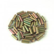 Miyuki szalmagyöngy - 2035 - Matte Metallic Khaki Iris - 6mm