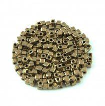 Miyuki Cube Japanese Glass Bead - 457 - Bronze - 1.8mm